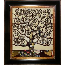 Tree of Life Klimt Framed Original Painting