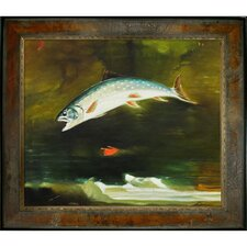 Homer Jumping Trout Canvas Art