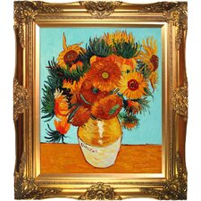 Sunflower Collage (Artist Interpretation) by Van Gogh Framed Hand Painted Oil on Canvas