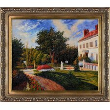 The Garden of Les Mathurins at Pontoise by Jacob-Abraham-Camille Pissarro Framed Hand Painted Oil on Canvas