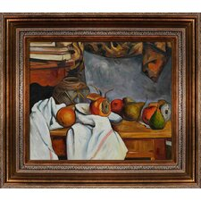 Cezanne Ginger Pot with Pomegranate and Pears Canvas Art