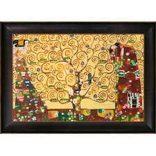 The Tree of Life, Stoclet Frieze by Klimt Framed Hand Painted Oil on Canvas