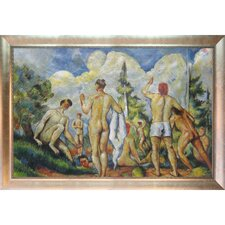 Bathers with Silver Canvas Art