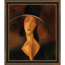 Portrait of Woman in Hat (Jeanne Hebuterne in Large Hat), 1917 Canvas Art