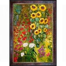 Farm Garden with Sunflowers Canvas Art