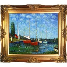 Red Boats at Argenteuil Canvas Art