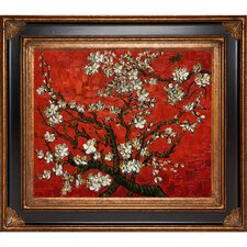 Branches of an Almond Tree in Blossom (Red) by Van Gogh Framed Hand Painted Oil on Canvas
