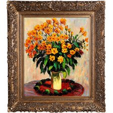 Vase of Chrysanthemums Canvas Art
