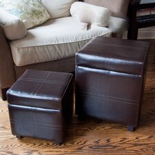 <strong>Simpli Home</strong> Avalon Storage Cube Ottoman (Set of 2)