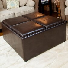 <strong>Simpli Home</strong> Avalon Cocktail Ottoman with 4 Serving Trays