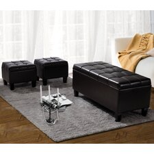 Dover 3 Piece Leather Storage Ottoman