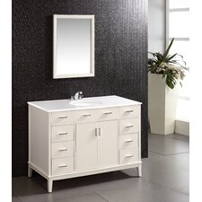 "Urban Loft 49"" Single Bathroom Vanity Set with Mirror"