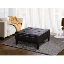 Dover Leather Coffee Table Ottoman