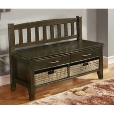 Williamsburg Wood Storage Entryway Bench with Drawers and Cubbies