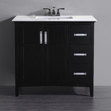 "Winston 37"" Single Bathroom Vanity Set with Mirror"