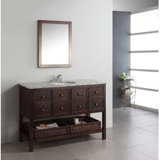 "Burnaby 49"" Single Bathroom Vanity Set with Mirror"