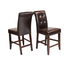 "<strong>Simpli Home</strong> Cosmopolitan 24"" Bar Stool with Cushion (Set of 2)"