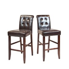 "Cosmopolitan 29"" Bar Stool with Cushion (Set of 2)"