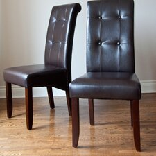 <strong>Simpli Home</strong> Cosmopolitan Parsons Chair (Set of 2)