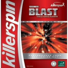 "Blast 0.08"" Table Tennis Rubber in Black"