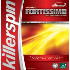 """Fortissimo High Tension 0.08"""" Table Tennis Rubber in Black"""