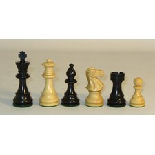 <strong>Checkmate</strong> Black and Natural Lardy Classic Chessmen