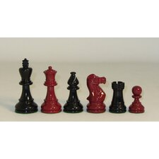 Classic Chessmen in Black / Red