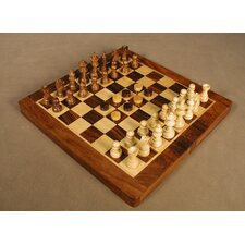 Wood Magnetic Folding Chess and Backgammon