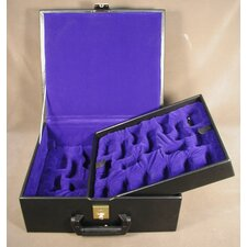 Deluxe Black Vinyl Chess Box
