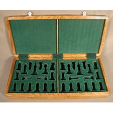 Teak Presentation Box Chessmen