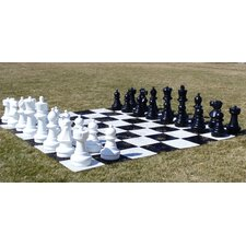 Garden Chessmen on Chess Board