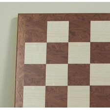 "<strong>Ferrer</strong> 17"" Veneer Chess Board in Hazelnut / Maple"