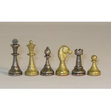 Small Staunton Metal Men Chessmen