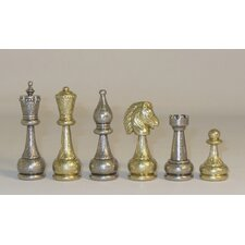 Large Staunton Metal Men Chessmen