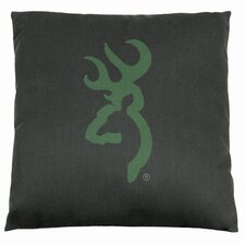 Buckmark Camo Square Logo Pillow