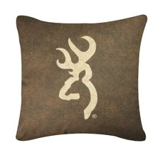 Buckmark Square Logo Pillow