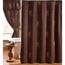 Buckmark Cotton Shower Curtain