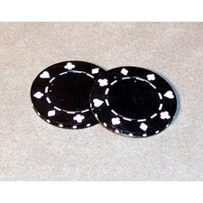 0.03 lb Poker Chips in Black