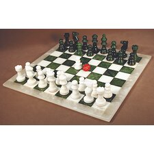 <strong>Scali</strong> Alabaster Chess Set in Green / White