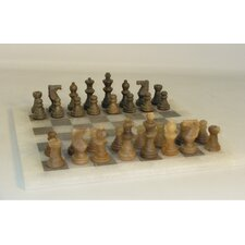 <strong>Scali</strong> Alabaster Chess Set in Brown / Ash
