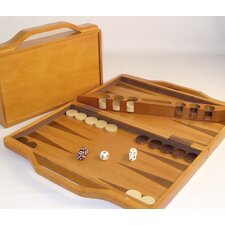 Wood Attache Backgammon Board Game