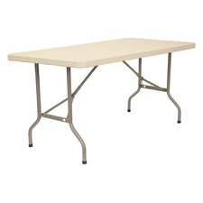 "72"" x 30"" Blow-Molded Folding Table"