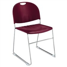 Compact Stacking Chair with Chrome Frame