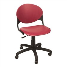 Low-Back Task Chair with Wheels