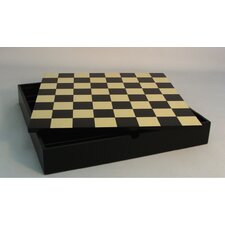 "16.25"" Chest Chess Board in Black / Maple"
