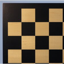 "17.25"" Black / Maple Veneer Chess Board"