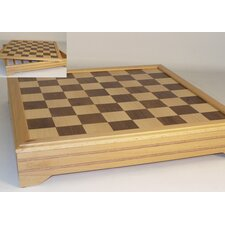 "18"" Inlaid Beechwood Chest Chess Board"