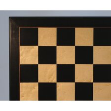 "22"" Black and Birdseye Maple Veneer Chess Board"