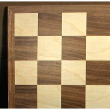 "15"" Walnut / Maple Veneer Chess Board"