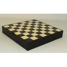 Veneer Chess Chest Board in Black / Maple